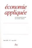 Rolande Borrelly - Economie appliquée Tome 64 N° 1, Mars 2 : .