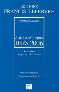 PriceWaterhouseCoopers et Claude Lopater - Arrêté des Comptes IFRS - Entreprises Banques et Assurances.