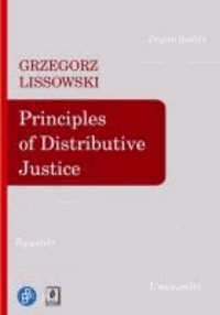 Principles of Distributive Justice.