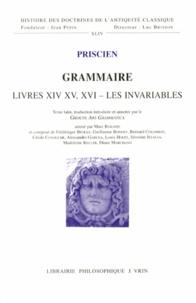 Priscien - Grammaire - Livres XIV, XV, XVI - Les invariables.