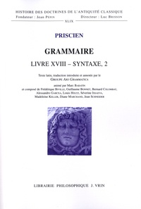 Priscien - Grammaire - Livre XVIII, Syntaxe 2.