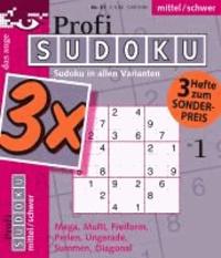 Profi-Sudoku 3er-Band Nr. 01 - Schwierigkeitsgrad: mittel/schwer.