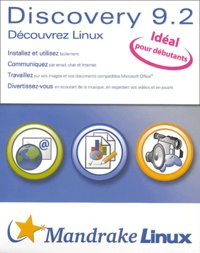 Mandrake Linux - Discovery 9.2 - Coffret 2 CD-ROM + 1 manuel.