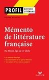 Profil - Mémento de la littérature française.
