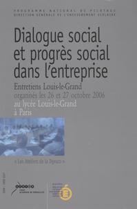 Programme national de pilotage - Dialogue social et progrès social dans l'entreprise.