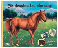 Prospérine Desmazures et Fiona Sansom - Je dessine les chevaux - Livre à pochoir.