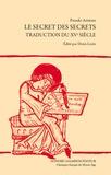 Pseudo-Aristote - Le secret des secrets - Traduction du XVe siècle.