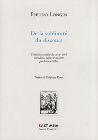 Pseudo-Longin - De la sublimité du discours.