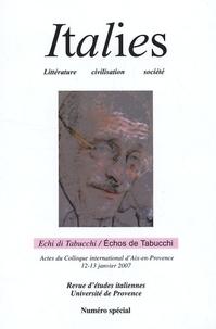 Perle Abbrugiati - Italies N° spécial : Echos de Tabucchi.