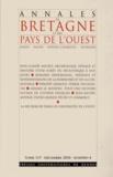 Annie Antoine - Annales de Bretagne et des Pays de l'Ouest Tome 117 N° 4, Décem : .