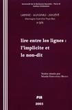 PU Sorbonne-Nouvelle - Langue, discours, société. Allemagne, Autriche, Pays-Bas N° 3-4/2003 : L'implicite et le non-dit.