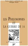 PU Vincennes - Les philosophes et la guerre de 14.