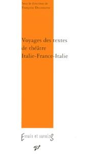 PU Vincennes - Voyage des textes de théâtre - Italie-France XVIe-XXe siècles.