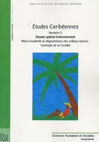 Pascal Saffache - Etudes caribéennes N° 5 : Dossier spécial environnement - Micro insularité et dégradations des milieux marins : l'exemple de la Caraïbe.