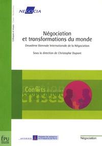 Christophe Dupont - Négociation et transformations du monde - Deuxième biennale internationale de la négociation.