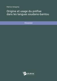 Patrice Amayina - Origine et usage du préfixe dans les langues soudano-bantou.