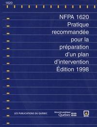 Deedr.fr NFPA 1620 - Pratique recommandée pour la préparation d'un plan d'intervention, édition 1998 Image