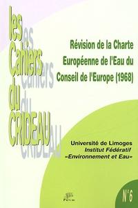 PULIM - Révision de la Charte Européenne de l'Eau du Conseil de l'Europe (1968).