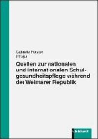 Quellen zur nationalen und internationalen Schulgesundheitspflege während der Weimarer Republik.