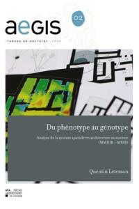Quentin Letesson - Du phénotype au génotype - Analyse de la syntaxe spatiale en architecture minoenne (MMIIIB – MRIB).