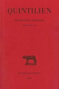 Ucareoutplacement.be Institution oratoire - Tome 5, Livres VIII et IX Image