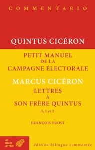 Histoiresdenlire.be Petit manuel de la campagne électorale ; Lettres à son frère Quintus I, 1 et 2 Image