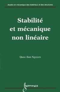 Quoc-Son Nguyen - Stabilité et mécanique non linéaire.