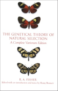 Openwetlab.it THE GENETICAL THEORY OF NATURAL SELECTION. A Complete Variorum Edition Image
