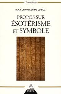 R-A Schwaller de Lubicz - Propos sur ésotérisme et symbole.