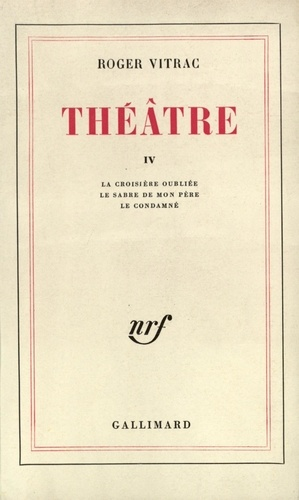 R Vitrac - THEATRE. - Tome 4.