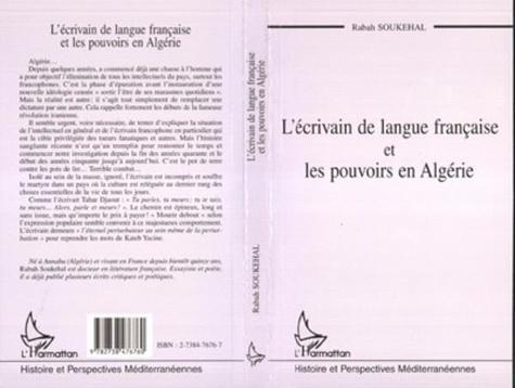 Rabah Soukehal - L'écrivain de langue française et les pouvoirs en Algérie.