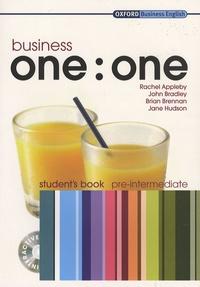 Rachel Appleby et John Bradley - Business one : one - Student's book pre-intermediate. 1 Cédérom