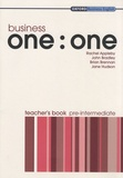 Rachel Appleby et John Bradley - Business one:one - Teacher's book pre-intermediate.