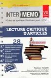 Radwan Kassir - Lecture critique d'articles.