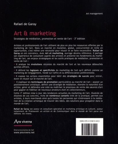 Art et marketing. Stratégies de médiation, promotion et vente de l''art 3e édition