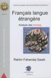 Rahim Fahandej Saadi - Français langue étrangère - Analyse des erreurs, Le cas des Persanophones.