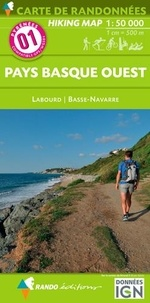 Rando éditions - Pays basque ouest - 1/50 000.