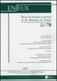 Raphaël Baroni et Jean-Louis Dumortier - Enjeux n°78 - Eté 2010.