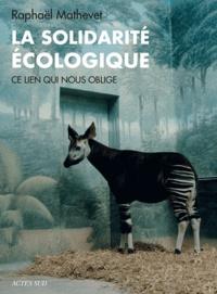 Deedr.fr La solidarité écologie - Ce lien qui nous oblige Image