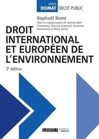 Droit international et européen de l'environnement - Raphaël Romi pdf epub