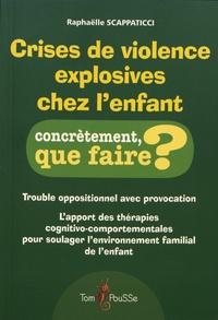 Raphaëlle Scappaticci - Crises de violence explosives chez l'enfant.