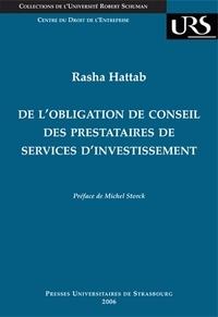 Deedr.fr De l'obligation de conseil des prestataires de services d'investissement Image