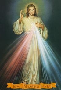 Rassemblement à son image - Jésus j'ai confiance en Toi - Pack de 20 images de Jésus miséricordieux.