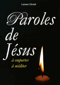 Cjtaboo.be Paroles de Jésus à emporter, à méditer Image