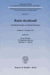 Ratio decidendi - Guiding Principles of Judicial Decisions. Vol. 2: 'Foreign' Law..