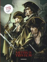 Raule et  Landa - Arthus Trivium  : Pack 2 volumes - Tome 1, Les anges de Nostradamus ; Tome 2, Le troisième magicien. Avec 1 ex-libris inédit.