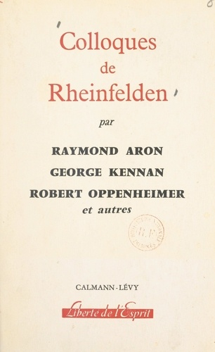 Colloques de Rheinfelden. Rapports