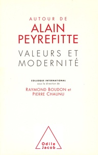 Raymond Boudon - Valeurs et modernité - Autour de Alain Peyrefitte, colloque international, [15-16 septembre 1995], à l'Institut, [Paris].