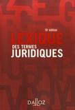 Raymond Guillien et Jean Vincent - Lexique des termes juridiques.
