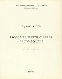 Raymond Kapps - Escolives Sainte-Camille gallo-romain - Le site. Le monument à arcades.
